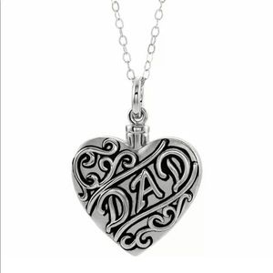 """Jewelry - Silver """"Dad"""" Ash Holder Necklace"""